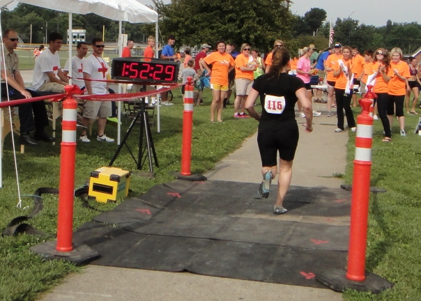 Miss Nash crossing the finish line!